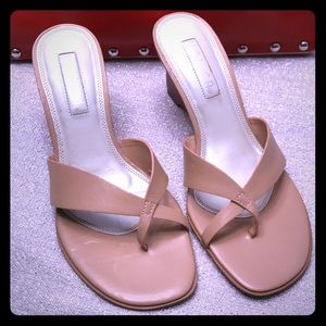 UNISA 61/2B women's nude heels sandals wedge
